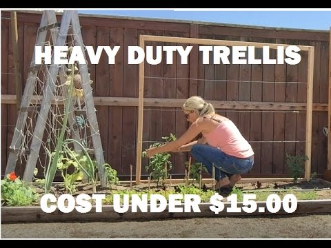 easy do it yourself - DIY - vegetable trellis, under $15.00