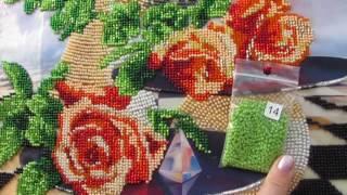 Готовая работа от ТМ Тэла Артис ''Лунные розы''. Вышивка бисером, мой финал)