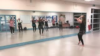 Beginners Belly Dance choreography to Douzi Habibi