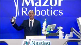 Mazor Robotics Rings the Closing Bell at Nasdaq