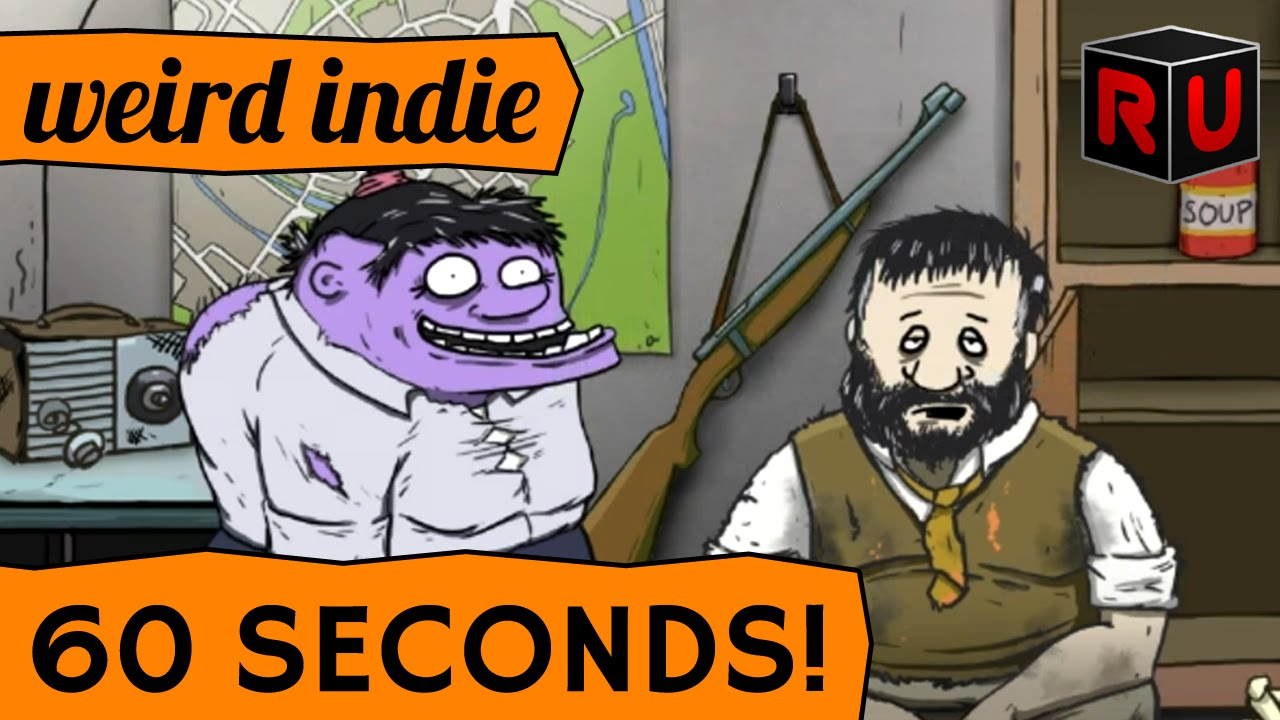 60 Seconds! gameplay: funny nuclear bunker survival game | Weird Indie -  YouTube