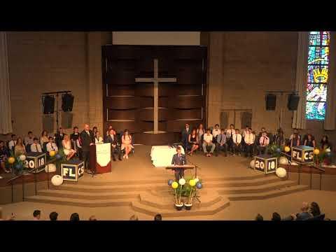 2018 Forest Lake Christian School 8th Grade Graduation 3 Lise Badeaux Salutatorian Speech