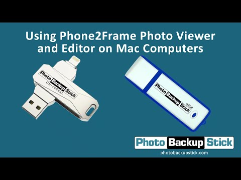 <strong>Viewing & Editing Photos Using the Phone2Frame Editor for Mac</strong><br>How to view and edit photos that have been backed up to your Photo Backup Stick using the Phone2Frame editor.