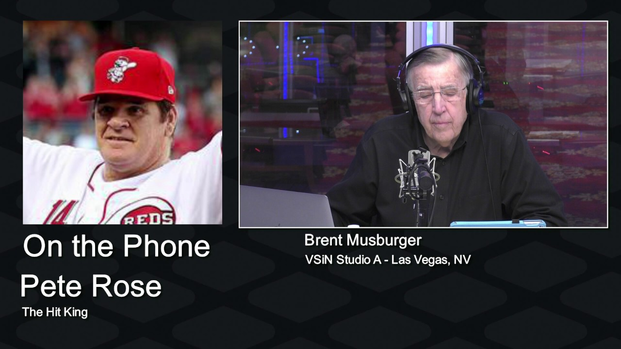 Pete Rose is interviewed by Brent Musburger on the Vegas ...