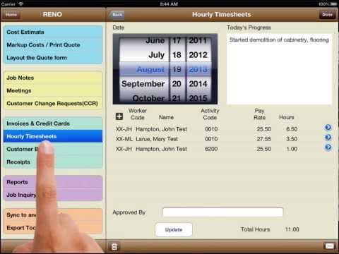 mpengo Job Cost iPad App
