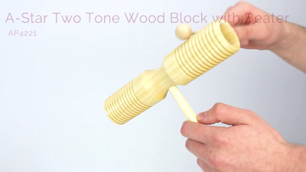 Tycoon Percussion Three Tone Wood Block