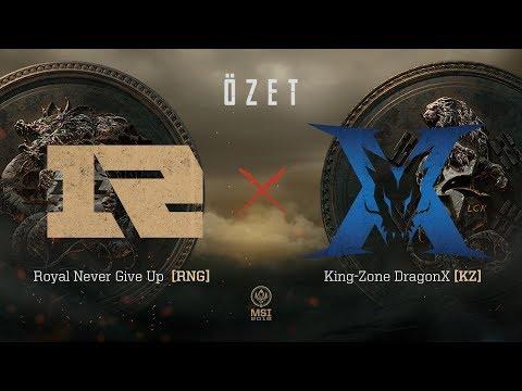 Royal Never Give Up ( RNG ) vs KING-ZONE DragonX ( KZ ) 1. Maç Özeti   MSI 2018 Finali