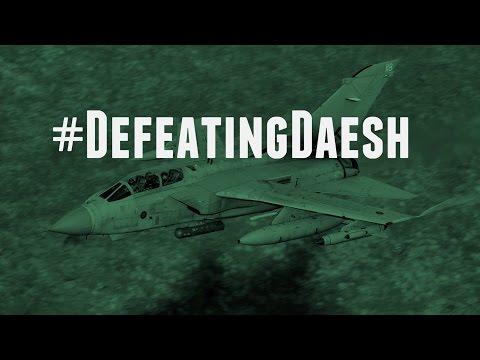 RAF Tornado strike on Daesh rocket rails 17 February 2016