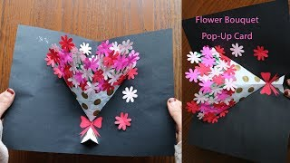 DIY Flower Bouquet Pop up Card 7-Paper Crafts-Handmade Craft