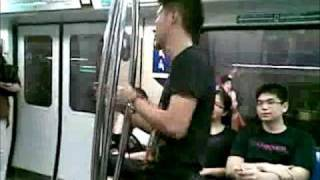 Singapore MRT Wing Chun IP Man in Ed Hardy