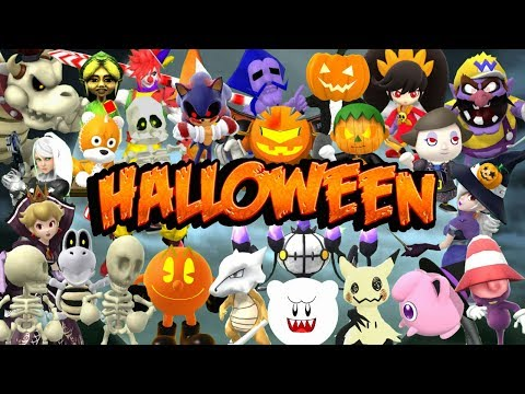 Spooky Skins + Characters&39; Halloween Costumes - Super Smash Bros Wii U Mods
