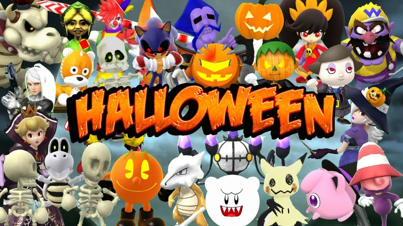 spooky skins characters halloween costumes super smash bros wii u mods
