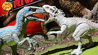 New Jurassic World Super Colossal Velociraptor Blue Dino Rivals Unboxing Fallen Kingdom Mattel Dino