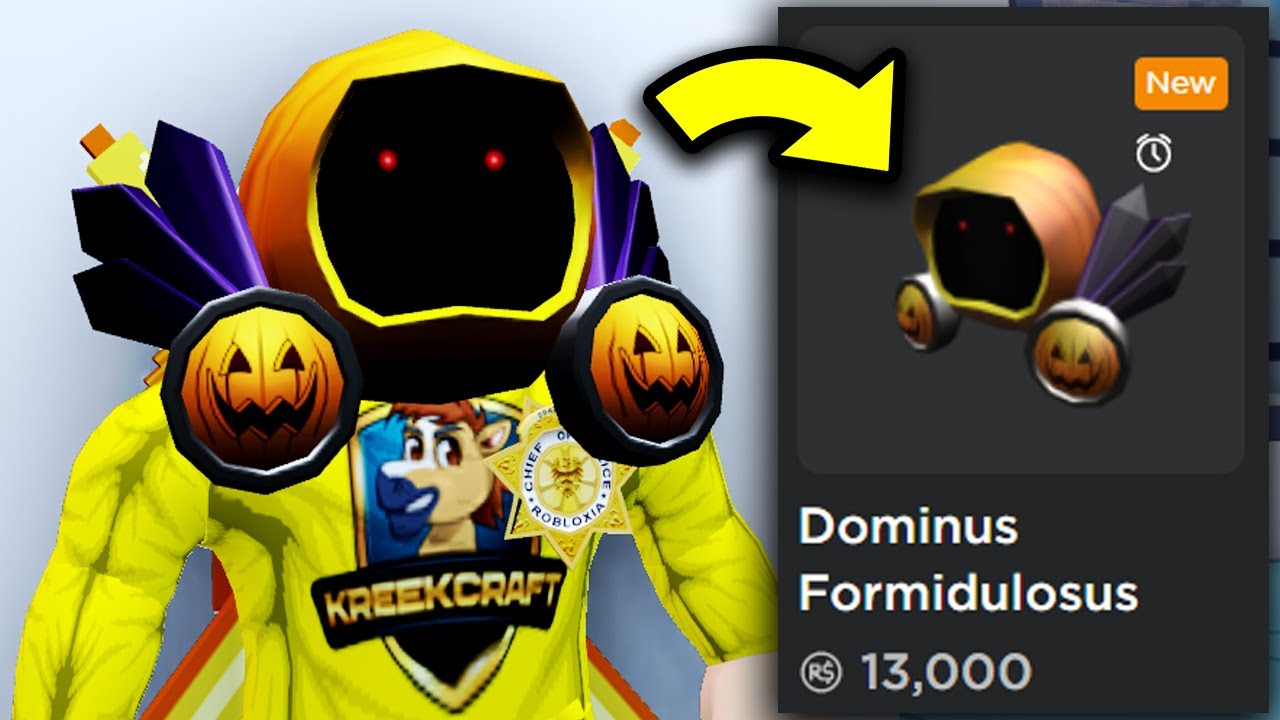 I Bought Another Dominus Roblox Halloween Dominus Dominus Formidulosus - ronald playing roblox jailbreak