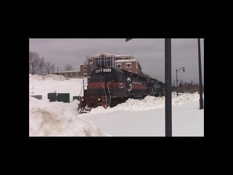 Pan Am Railways MAWA W/ MEC 344 Veazie-Hermon Chase.  Feb 18th, 2017