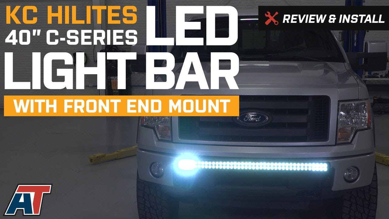2004 2014 f150 kc hilites 40 c series led light bar w front end 2004 2014 f150 kc hilites 40 c series led light bar w front end mount review install aloadofball Choice Image