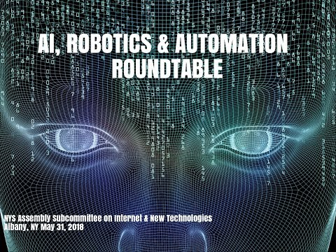 NYS Assembly Artificial Intelligence, Automation Roundtable