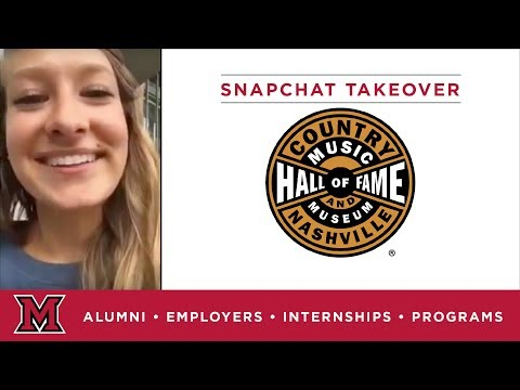 Kim's Education Internship for The Country Music Hall of Fame in Nashville, TN
