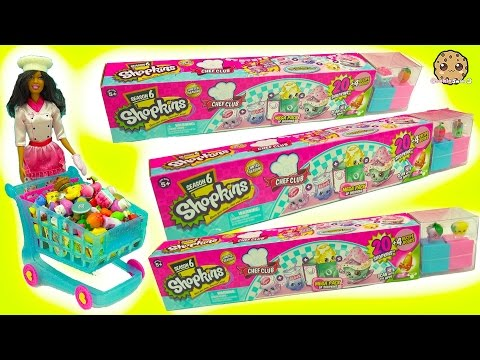 Chef Barbie Shops for 60 Season 6 Shopkins...