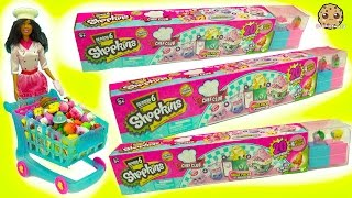 Chef Barbie Shops for 60 Season 6 Shopkins - 20 Mega Packs with Surprise Recipe Club Blind Bags