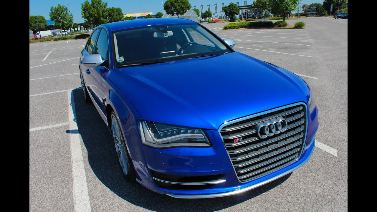 Audi S8 Full Wrapped With 3m Gloss Cosmic Blue Youtube