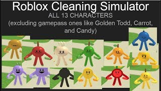 Roblox Cleaning Simulator Showing Off ALL CHARACTERS no gamepass