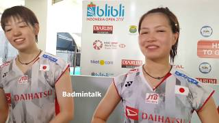 Yuki Fukushima and Sayaka Hirota after Indonesia Open Quarterfinal 2018