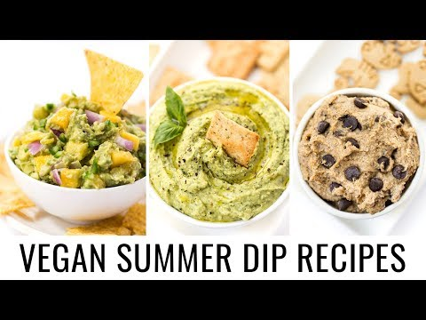 MUST-TRY VEGAN SUMMER DIPS | 3 healthy recipes