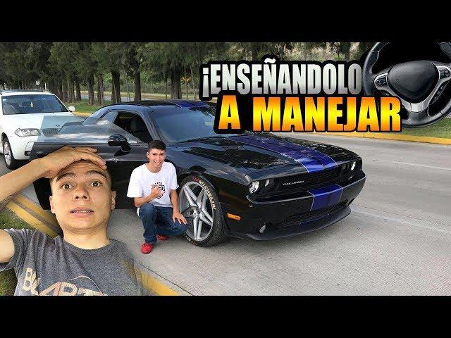 ENSEÑO a MANEJAR al CHOCOTORRO en mi CHALLENGER?ManuelRivera11