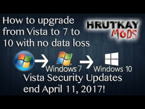 Tutorial: Upgrading Windows Vista to 7 to 10 Without Data Loss (a.k.a. No Clean Install Needed)