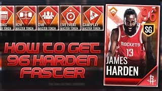HOW TO GET THE 96 OVR MASTER JAMES HARDEN FASTER!!! NBA Live Mobile Tips and Tricks!!!