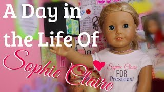 A Day in the Life of Sophie Claire Biles -American Girl Doll Stopmotion