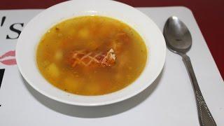 гороховый суп с копчеными крылышками))) Супер простой рецепт