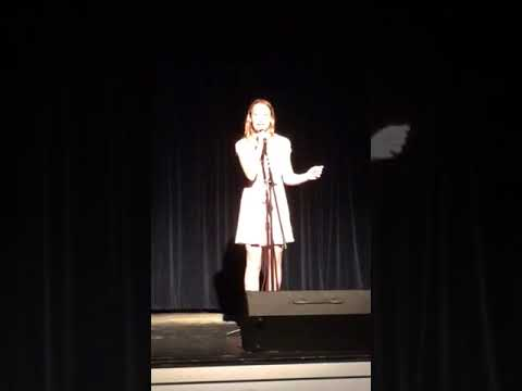 Claire at the Seattle Girls School Talent Showcase - 8th Grade