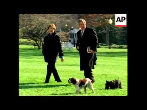 President Bush Arrives Back In Washington