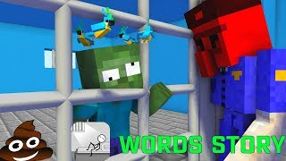 Monster School  Words Story Challenge - Minecraft Animation