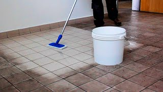 Faber - How to clean deep and hard dirt from porcelain tiles (Tile Cleaner)
