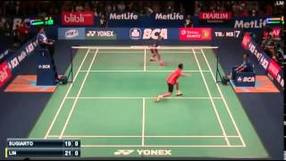 Lin Dan vs Tommy Sugiarto | R1 Badminton 2015  New !