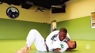 Choke from bottom side control - Brazilian Jiu-Jitsu
