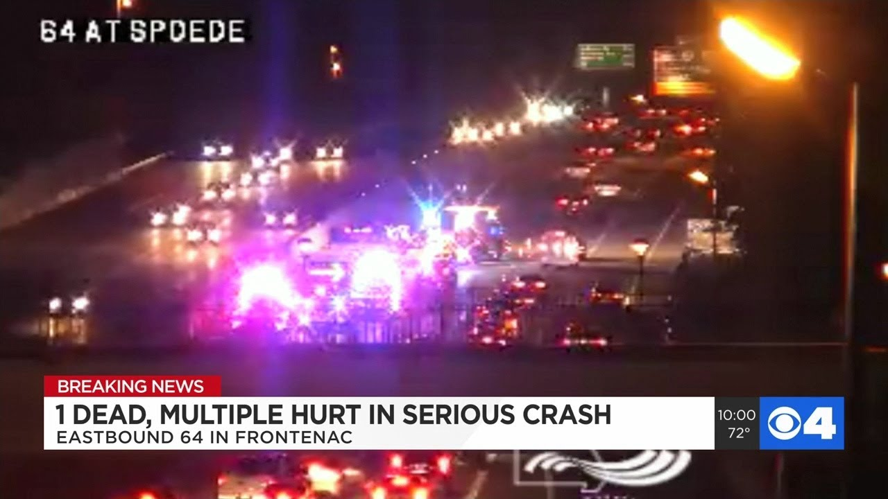 Accident closes all lanes of EB I-64 near Spoede