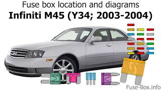 Fuse box location and diagrams: Infiniti M45 (Y34; 2003-2004) - YouTubeYouTube