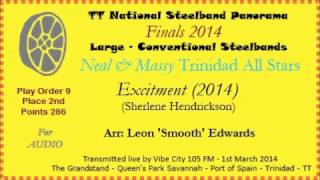 TT Steelband Panorama 2014 - Large Finals. Trinidad All Stars - Excitement (Arr