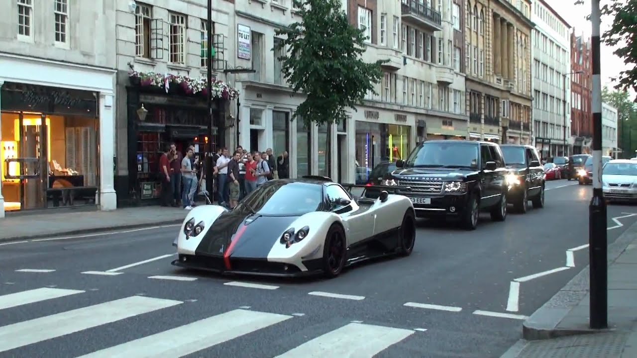 Pagani Zonda Cinque Roadster - Furious Revs, Hard acceleration ...