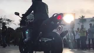 Stunts for video Ad shoot Ebdullah Khan's burnout revenge on Bandit 1250s