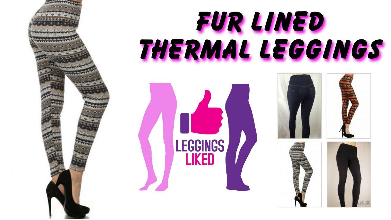 f01793f63de4d7 Warm Leggings For Winter Fur Lined Thermal Women's SML - YouTube