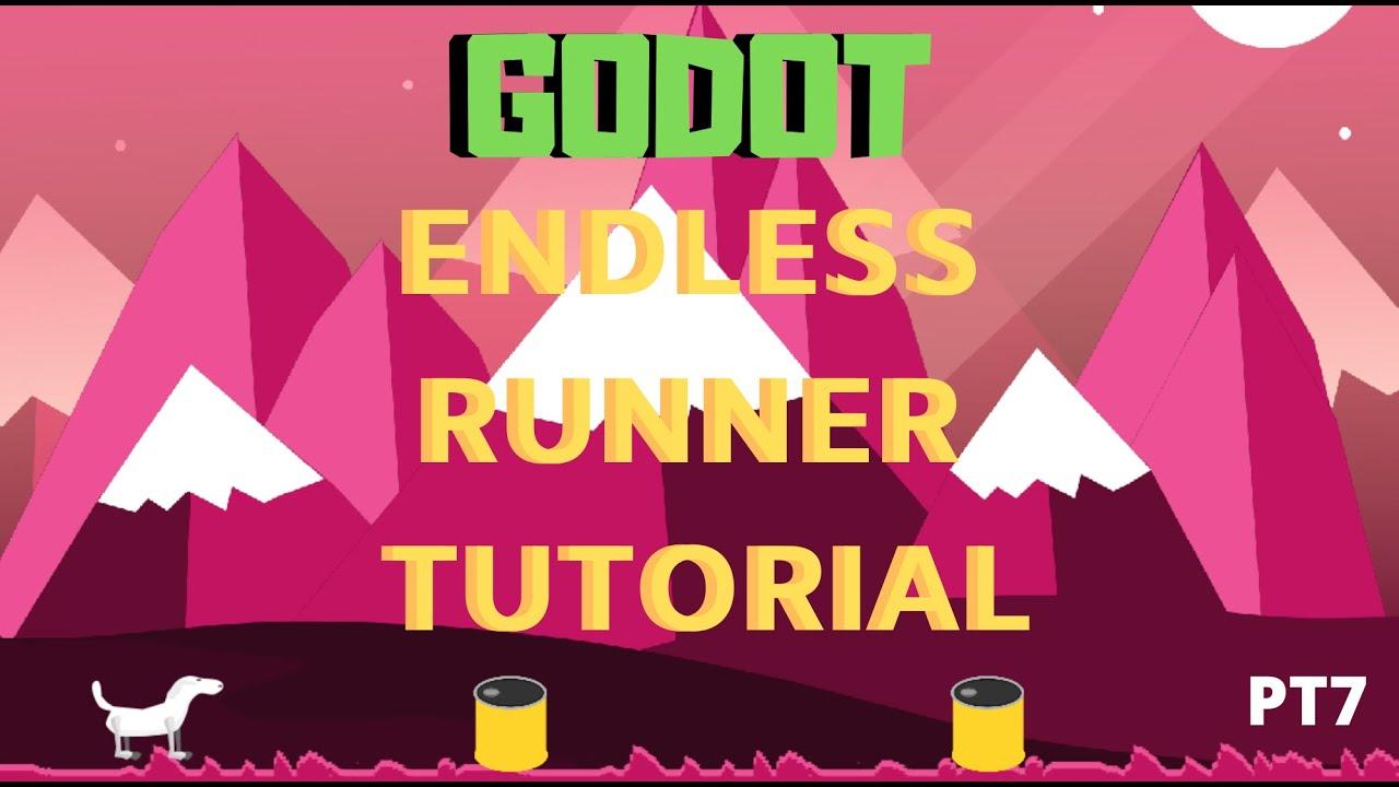 Godot beginner tutorial endless runner spawner part 7