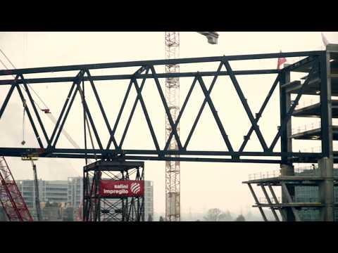 Nuova Sede ENI a Milano: Salini Impregilo solleva il ponte sospeso tra le torri