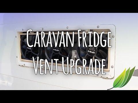 Caravan fridge vent fan upgrade
