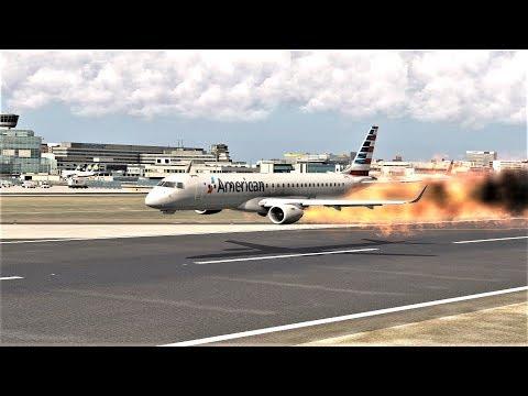 American Airlines Embraer 190 Emergency Landing Crash (HD) | X-Plane 11|
