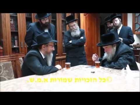 Russia's Chief Rabbi Berel Lazar Meets Belzer Rebbe - 5776